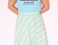 Knit half circle skirt