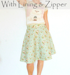 Half circle skirt with zipper