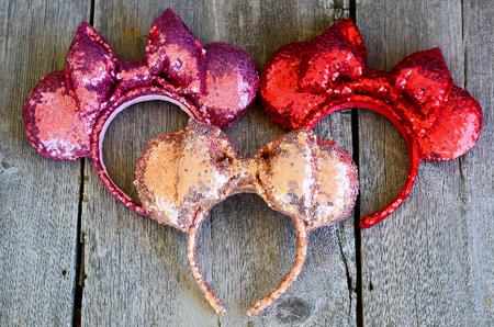 DIY Sequin Minnie Mouse Ears