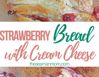 Strawberry cream cheese puff pastry bread