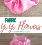 Fabric yo yo flowers