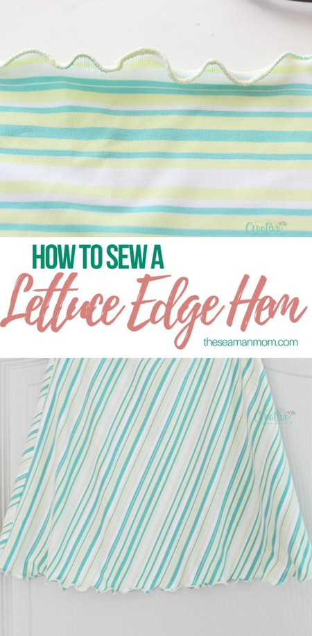 Lettuce edge hem tutorial