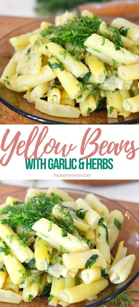 Yellow beans with garlic & dill