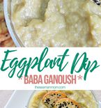 Eggplant dip with lemon & onion