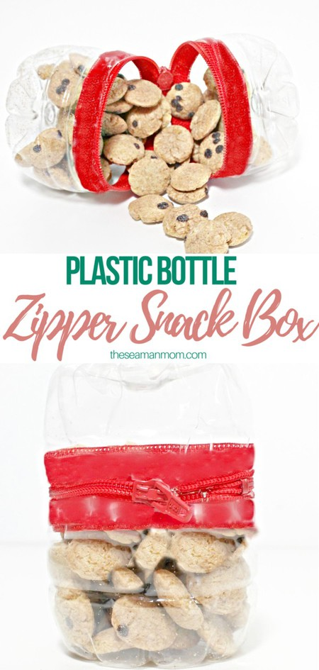 DIY recycled snack box with zipper