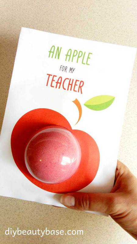 Back to School Teacher Gift Card for Bath Bombs