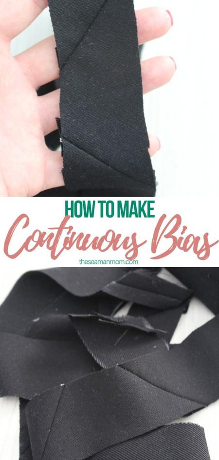 Continuous bias tape tutorial