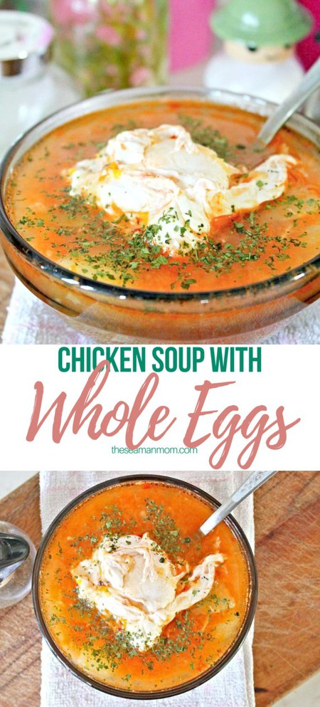 Chicken whole egg soup
