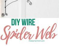 DIY wire spider web