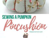Trio pumpkin pincushion