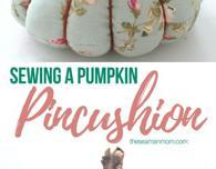 Trio pumpkin pincushion