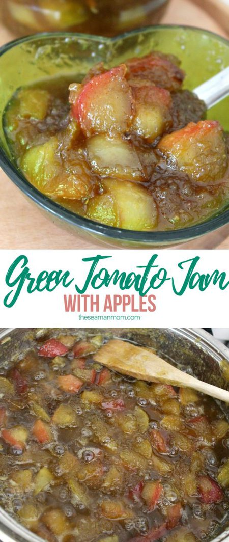 Green tomato apple jam