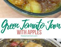 Green tomato apple jam