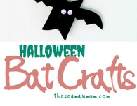 Toilet paper roll Halloween bats