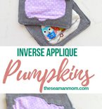 Reversed applique pumpkin coasters