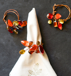 Jeweled Fall Napkin Rings