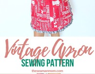 Vintage apron sewing pattern
