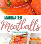 Marinated meatballs