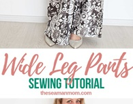 Wide leg pants sewing pattern