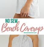 No sew beach coverup
