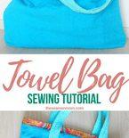 Towel beach bag