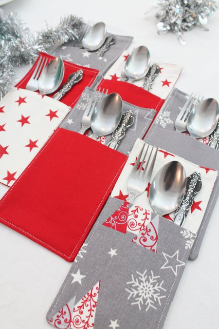 DIY CUTLERY HOLDER SEWING TUTORIAL