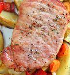 Oven Roasted Pork Chops with Honey Glazed Vegetables