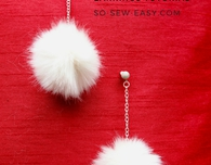 How to make fur pompom earrings: an easy tutorial