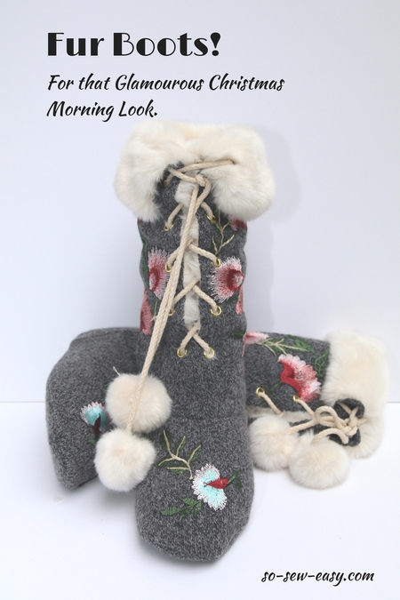 Fur Boots! For the Glamourous Christmas Morning Look