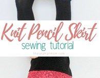 Knit pencil skirt sewing tutorial