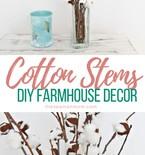 DIY faux cotton branches