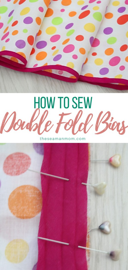 How to sew double fold bias tape