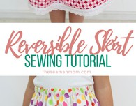 Reversible skirt sewing tutorial