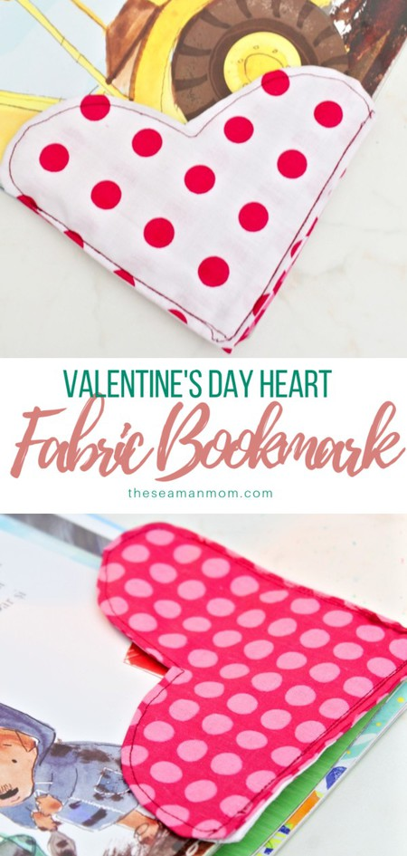 Fabric heart bookmarks