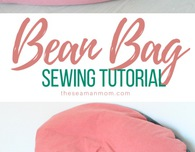 DIY bean bag chair sewing tutorial