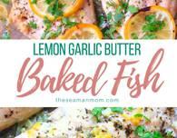 Lemon garlic butter fish recipe