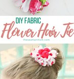 DIY fabric flower hair ties
