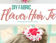 DIY fabric flower hair ties