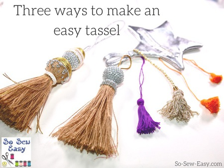 Three ways to make an easy tassel