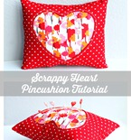 Scrappy Valentine's Day Pincushion