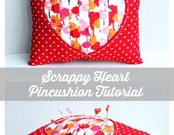 Scrappy Valentine's Day Pincushion