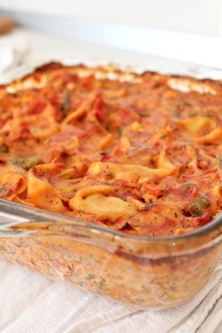 Cheesy Tortellini Bake