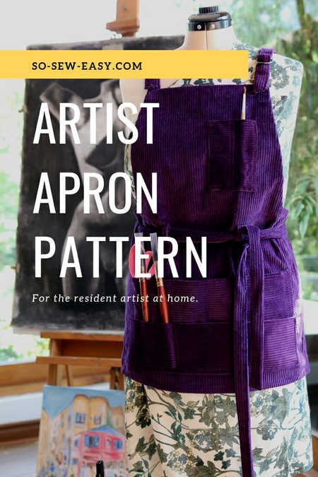 Artist Apron Pattern For The Resident Artist at Home