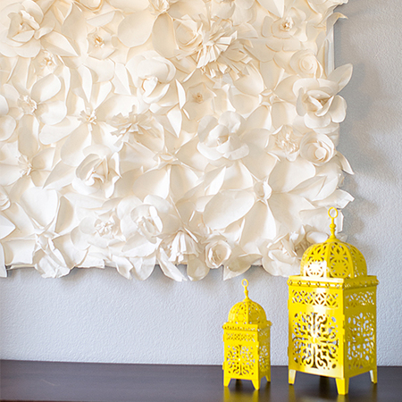 Paper Flower Wall Decoration