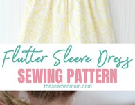 Flutter sleeve dress pattern