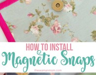 How to install magnetic snaps