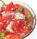 Roasted Long Sweet Peppers Salad