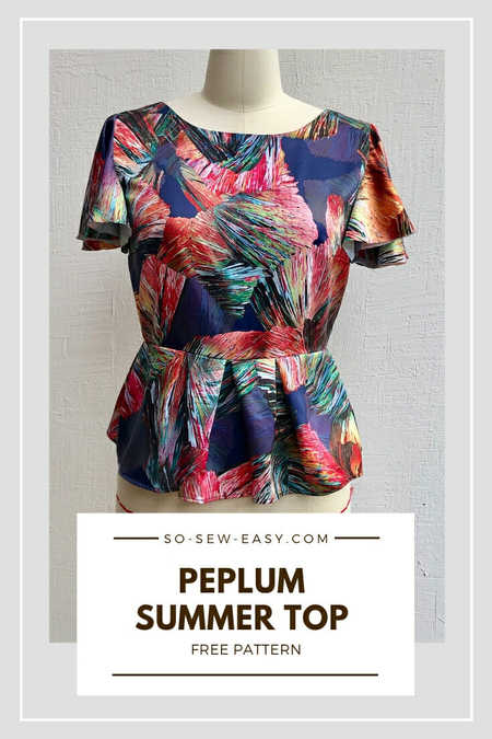 Peplum Top FREE Sewing Pattern