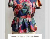 Peplum Top FREE Sewing Pattern