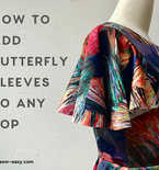 How To Add Butterfly Sleeves To A Top Or Dress